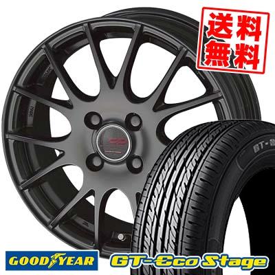 195/55R15 85V Goodyear グッドイヤー GT-Eco Stage ジーティー エコステージ ENKEI CREATIVE DIRECTION CDM1 エンケイ クリエイティブ ディレクション CD-M1 サマータイヤホイール4本セット