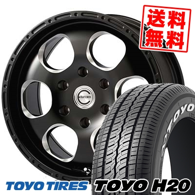 215/65R16 109/107R TOYO TIRES トーヨー タイヤ H20 H20 Blood stock one piece ブラッドストック 1ピース サマータイヤホイール4本セット