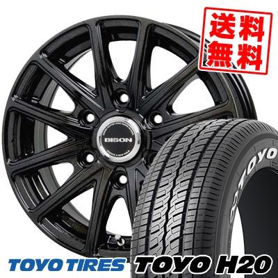 195/80R15 107/105L TOYO TIRES トーヨータイヤ H20 H20 BISON BN01 バイソン BN-01 サマータイヤホイール4本セット