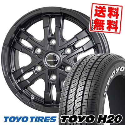 195/80R15 107/105L TOYO TIRES トーヨー タイヤ H20 H20 BISON BN03 バイソン BN-03 サマータイヤホイール4本セット