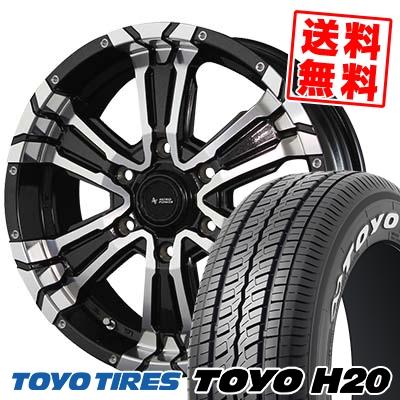 215/60R17 TOYO TIRES トーヨー タイヤ H20 H20 NITRO POWER CROSS CLAW ナイトロパワー クロスクロウ サマータイヤホイール4本セット for 200系ハイエース