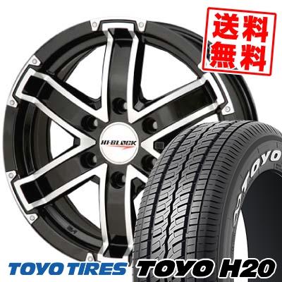 215/60R17 TOYO TIRES トーヨー タイヤ H20 H20 HI BLOCK ハイブロック サマータイヤホイール4本セット for 200系ハイエース