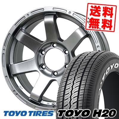 195/80R15 107/105L TOYO TIRES トーヨー タイヤ H20 H20 MAD CROSS MC-76 マッドクロス MC-76 サマータイヤホイール4本セット for 200系ハイエース