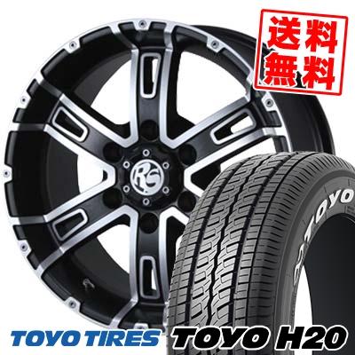 195/80R15 TOYO TIRES トーヨー タイヤ H20 H20 PIAA ROCK SPEED ピア ロックスピード サマータイヤホイール4本セット