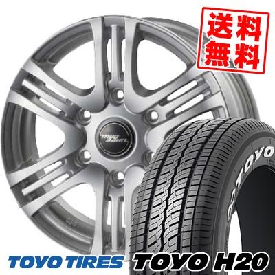 195/80R15 TOYO TIRES トーヨー タイヤ H20 H20 MAD BAHN XR-HC マッドバーン XRHC サマータイヤホイール4本セット
