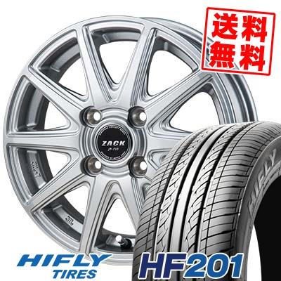 165/60R14 75H HIFLY ハイフライ HF201 エイチエフ ニイマルイチ ZACK JP-710 ザック ジェイピー710 サマータイヤホイール4本セット