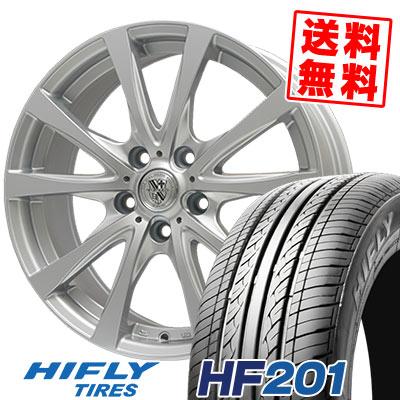 205/55R16 91V HIFLY ハイフライ HF201 エイチエフ ニイマルイチ TRG-SILBAHN TRG シルバーン サマータイヤホイール4本セット