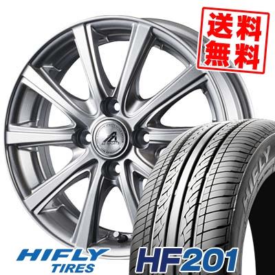 145/80R12 74T HIFLY ハイフライ HF201 エイチエフ ニイマルイチ AZ sports YL-10 AZスポーツ YL-10 サマータイヤホイール4本セット