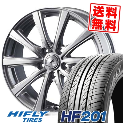 215/65R16 98H HIFLY ハイフライ HF201 エイチエフ ニイマルイチ AZ sports YL-10 AZスポーツ YL-10 サマータイヤホイール4本セット