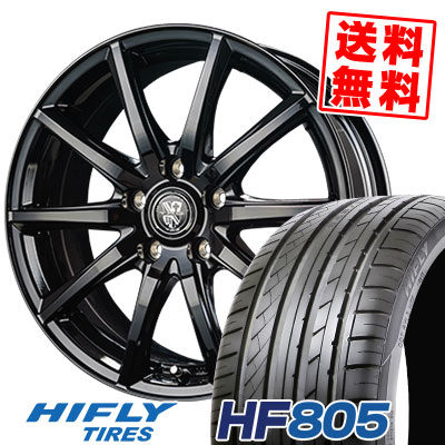 225/50R16 92V XL HIFLY ハイフライ HF805 エイチエフ ハチマルゴ TRG-GB10 TRG GB10 サマータイヤホイール4本セット
