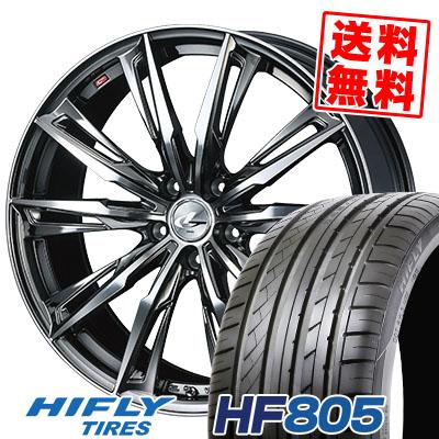 215/45R17 91W XL HIFLY ハイフライ HF805 エイチエフ ハチマルゴ WEDS LEONIS GX ウェッズ レオニス GX サマータイヤホイール4本セット