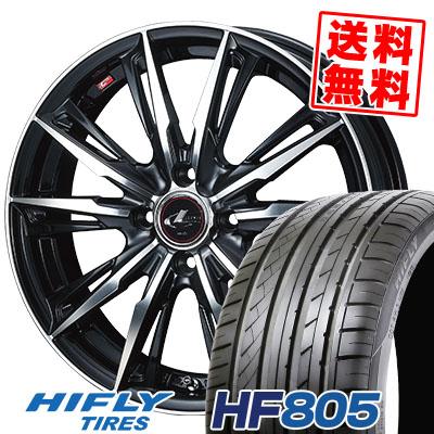 205/45R17 88W XL HIFLY ハイフライ HF805 エイチエフ ハチマルゴ WEDS LEONIS GX ウェッズ レオニス GX サマータイヤホイール4本セット