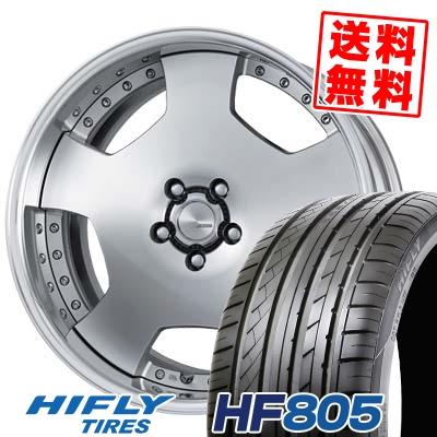 245/45R19 102W XL HIFLY ハイフライ HF805 HF805 WORK LANVEC LD1 ワーク ランベック エルディーワン サマータイヤホイール4本セット