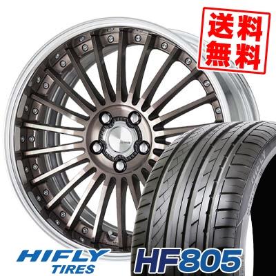 225/35R18 87W XL HIFLY ハイフライ HF805 HF805 WORK LANVEC LM1 ワーク ランベック エルエムワン サマータイヤホイール4本セット
