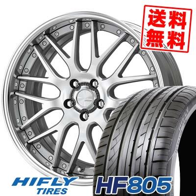 245/45R19 102W XL HIFLY ハイフライ HF805 HF805 WORK LANVEC LM1 ワーク ランベック エルエムワン サマータイヤホイール4本セット