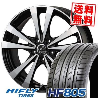 215/45R17 91W XL HIFLY ハイフライ HF805 エイチエフ ハチマルゴ PRAUZER LYNX プラウザー リンクス サマータイヤホイール4本セット