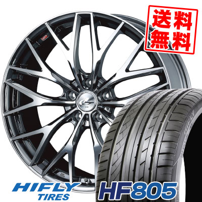 225/40R19 93W XL HIFLY ハイフライ HF805 エイチエフ ハチマルゴ weds LEONIS MX ウェッズ レオニス MX サマータイヤホイール4本セット