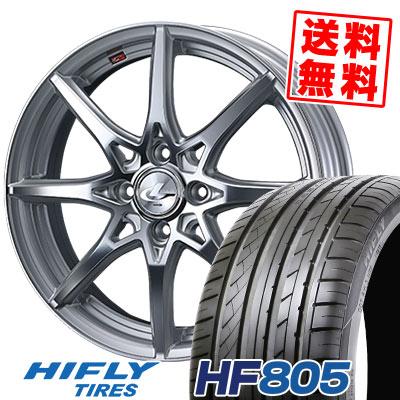 185/55R16 83V XL HIFLY ハイフライ HF805 エイチエフ ハチマルゴ weds LEONIS SV ウェッズ レオニス SV サマータイヤホイール4本セット