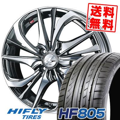 205/45R17 88W XL HIFLY ハイフライ HF805 エイチエフ ハチマルゴ weds LEONIS TE ウェッズ レオニス TE サマータイヤホイール4本セット