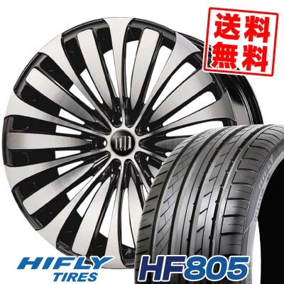 225/35R18 87W XL HIFLY ハイフライ HF805 HF805 D.A.D GARSON VELUGA DAD ギャルソン ヴェルーガ(ベルーガ) サマータイヤホイール4本セット
