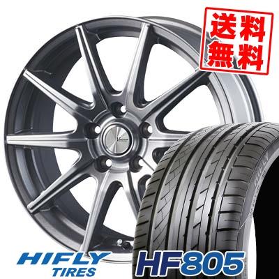215/45R18 93W XL HIFLY ハイフライ HF805 エイチエフ ハチマルゴ V-EMOTION SR10 Vエモーション SR10 サマータイヤホイール4本セット