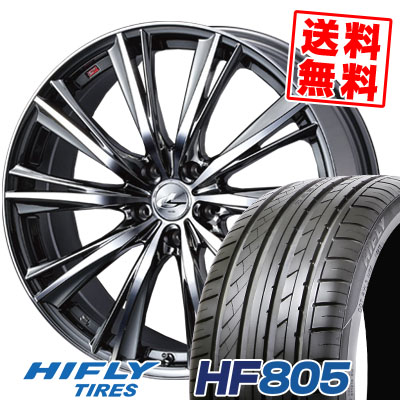 225/35R18 87W XL HIFLY ハイフライ HF805 HF805 weds LEONIS WX ウエッズ レオニス WX サマータイヤホイール4本セット【取付対象】