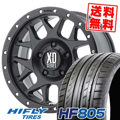 225/55R16 99V XL HIFLY ハイフライ HF805 エイチエフ ハチマルゴ KMC XD127 BULLY KMC XD127 ブリー サマータイヤホイール4本セット