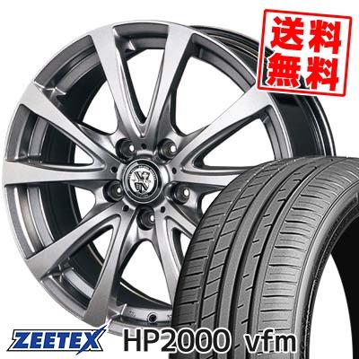 215/60R17 96H ZEETEX ジーテックス HP2000vfm HP2000vfm TRG-BAHN TRG バーン サマータイヤホイール4本セット
