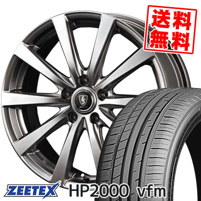 215/45R17 91W XL ZEETEX ジーテックス HP2000vfm HP2000vfm Euro Speed G10 ユーロスピード G10 サマータイヤホイール4本セット