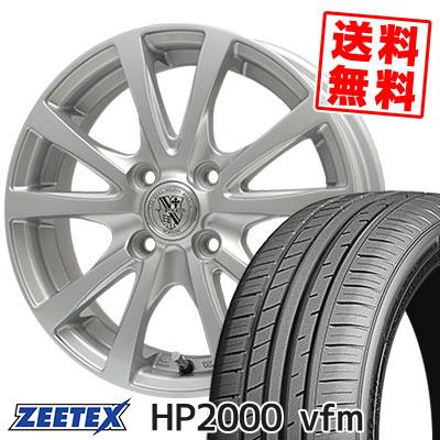 205/55R15 88V ZEETEX ジーテックス HP2000vfm HP2000vfm TRG-SILBAHN TRG シルバーン サマータイヤホイール4本セット