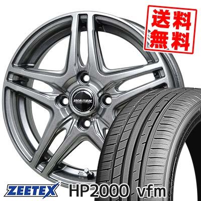 205/55R15 88V ZEETEX ジーテックス HP2000vfm HP2000vfm WAREN W04 ヴァーレン W04 サマータイヤホイール4本セット