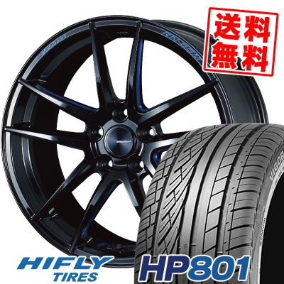 235/60R18 107V XL HIFLY ハイフライ HP801 エイチピー ハチマルイチ WedsSport RN-55M ウェッズスポーツ RN-55M サマータイヤホイール4本セット