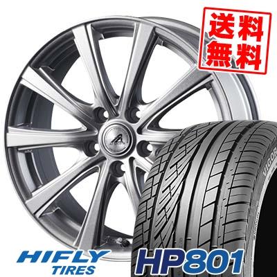 215/55R18 99V XL HIFLY ハイフライ HP801 エイチピー ハチマルイチ AZ sports YL-10 AZスポーツ YL-10 サマータイヤホイール4本セット【取付対象】