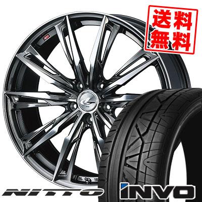 245/35R20 95W NITTO ニットー INVO インヴォ WEDS LEONIS GX ウェッズ レオニス GX サマータイヤホイール4本セット