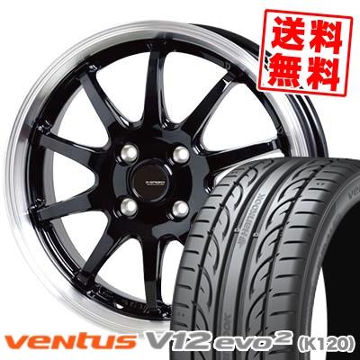 185/55R15 82V HANKOOK ハンコック VENTUS V12 evo2 K120 ベンタス V12 エボ2 K120 G.speed P-04 ジースピード P-04 サマータイヤホイール4本セット【取付対象】