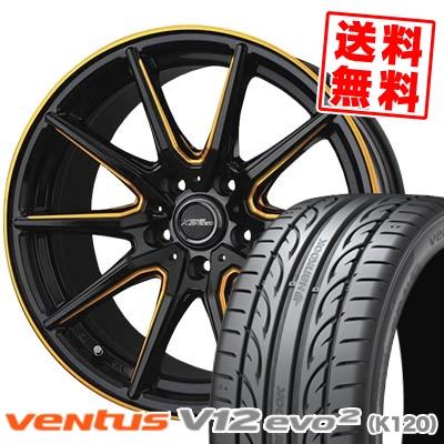 215/45R18 HANKOOK ハンコック VENTUS V12 evo2 K120 ベンタス V12 エボ2 K120 CROSS SPEED PREMIUM RS10 クロススピード プレミアム RS10 サマータイヤホイール4本セット