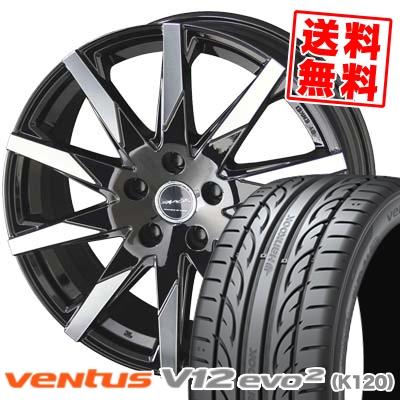 225/45R18 HANKOOK ハンコック VENTUS V12 evo2 K120 ベンタス V12 エボ2 K120 SMACK SFIDA スマック スフィーダ サマータイヤホイール4本セット