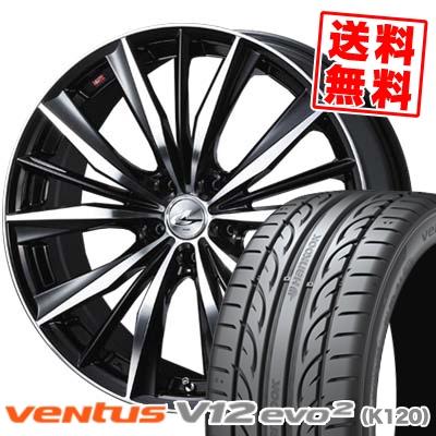 225/40R19 HANKOOK ハンコック VENTUS V12 evo2 K120 ベンタス V12 エボ2 K120 weds LEONIS VX ウエッズ レオニス VX サマータイヤホイール4本セット
