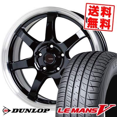 225/40R18 92W XL DUNLOP ダンロップ LE MANS 5 LM5 ルマンV(ファイブ) ルマン5 G.speed P-03 ジースピード P-03 サマータイヤホイール4本セット