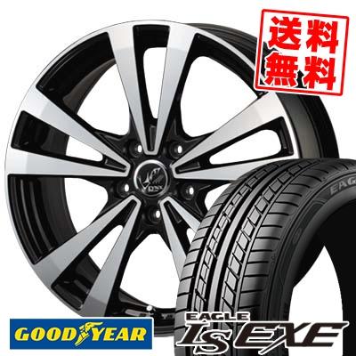 225/45R17 91W Goodyear グッドイヤー LS EXE LS エグゼ PRAUZER LYNX プラウザー リンクス サマータイヤホイール4本セット