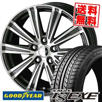 215/55R16 93V Goodyear グッドイヤー LS EXE LS エグゼ SMACK SPARROW スマック スパロー サマータイヤホイール4本セット