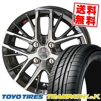 165/55R15 75V TOYO TIRES トーヨー タイヤ TRANPATH LuK トランパス LuK SMACK REVILA スマック レヴィラ サマータイヤホイール4本セット【取付対象】