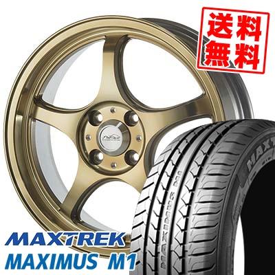 195/55R16 87V MAXTREK マックストレック MAXIMUS M1 マキシマス エムワン 5ZIGEN PRORACER FN01R-Cα 5ジゲン プロレーサー FN01R-Cアルファ サマータイヤホイール4本セット