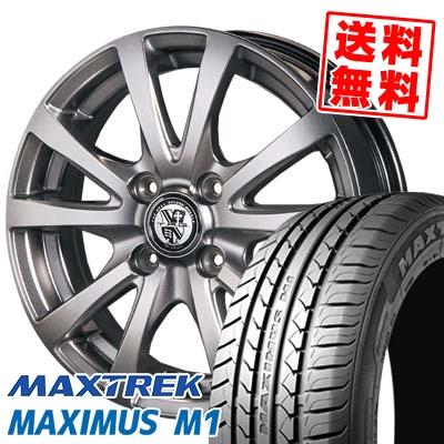 155/55R14 69V MAXTREK マックストレック MAXIMUS M1 マキシマス エムワン TRG-BAHN TRG バーン サマータイヤホイール4本セット