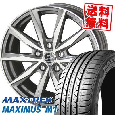 245/40R18 97W XL MAXTREK マックストレック MAXIMUS M1 マキシマス エムワン SMACK BASALT スマック バサルト サマータイヤホイール4本セット