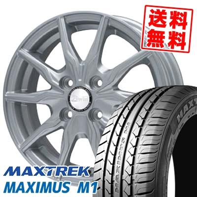 155/65R14 75T MAXTREK マックストレック MAXIMUS M1 マキシマス エムワン B-WIN KRX B-WIN KRX サマータイヤホイール4本セット