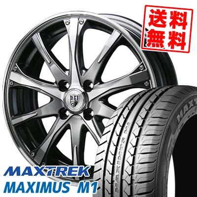 215/40R17 87W XL MAXTREK マックストレック MAXIMUS M1 マキシマス エムワン Bahnsport Type504 バーンシュポルト タイプ504 サマータイヤホイール4本セット