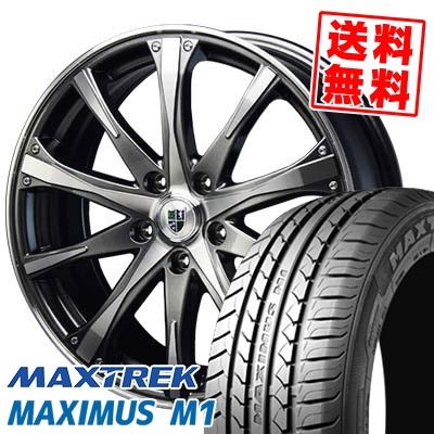 225/60R17 99V MAXTREK マックストレック MAXIMUS M1 マキシマス エムワン Bahnsport Type504 バーンシュポルト タイプ504 サマータイヤホイール4本セット