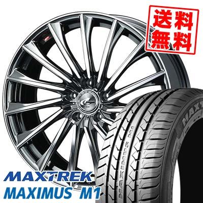 225/50R17 98W XL MAXTREK マックストレック MAXIMUS M1 マキシマス エムワン WEDS LEONIS CH ウェッズ レオニス CH サマータイヤホイール4本セット