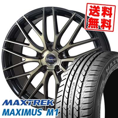 225/55R17 101V XL MAXTREK マックストレック MAXIMUS M1 マキシマス エムワン Warwic Empress Mesh ワーウィック エンプレスメッシュ サマータイヤホイール4本セット